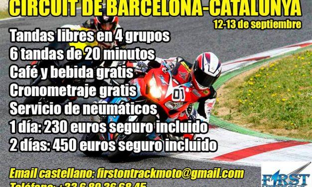Rodada para motos 12-13 de septiembre en el Circuito de Cataluña