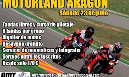 Rodada para Motos 23 Julio en el Circuito de Motorland
