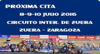 Campeonato de España de karting 8,9 y 10 Julio Circuito de Zuera